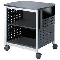 Safco 1856BL 3-Shelf Black / Silver Mobile Printer Stand - 26 1/2 inch x 20 1/2 inch x 26 1/2 inch