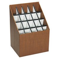 Safco 3081 20 Compartment Woodgrain Corrugated Roll File Organizer