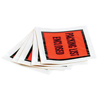 Quality Park 46897 4 1/2 inch x 5 1/2 inch Orange Full Print Packing List Envelope with Self Adhesive Seal - 1000/Case