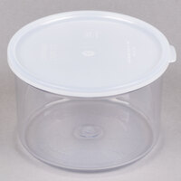 Cambro CCP15152 1.5 Qt. Clear Round Crock with Lid - 6 / Case