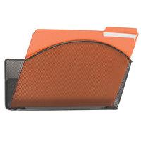 Safco 5651BL Black Steel 1 Pocket Letter Sized Wall File