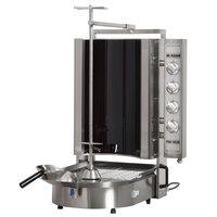 Inoksan PDE 403N Electric Doner Kebab Machine / Vertical Broiler with Robax Glass Shield - 20-130 lb. Capacity