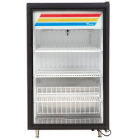 True GDM-07F-HC~TSL01 Black Countertop Display Freezer with Swing Door