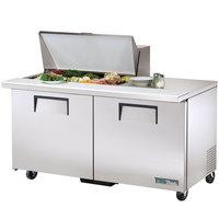 True TSSU-60-15M-B-HC 60 inch 2 Door Mega Top Refrigerated Sandwich Prep Table