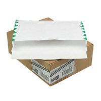 Survivor R4460 Tyvek® #98 10 inch x 15 inch x 2 inch White U.S. Postal Service First Class Expansion Mailer with Flap-Stick Self Adhesive Seal - 100/Case