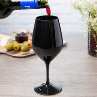 Spiegelau 4408551 Authentis 10.75 oz. Black Blind Wine Tasting Glass - 12/Case