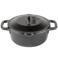 Lodge L1SP3 1 Qt. Pre-Seasoned Cast Iron Dutch Oven with Loop Handles
