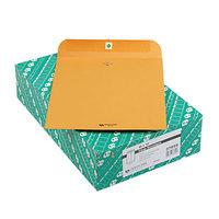 Quality Park 37895 #95 10 inch x 12 inch Brown Kraft Clasp / Gummed Seal File Envelope - 100/Box