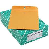 Quality Park 37895 #95 10 inch x 12 inch Brown Kraft Clasp / Gummed Seal File Envelope - 100/Box