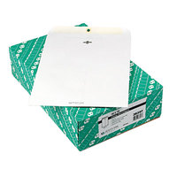 Quality Park 38397 #97 10 inch x 13 inch White Clasp / Gummed Seal File Envelope - 100/Box
