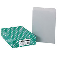 Quality Park 38610 #110 12 inch x 15 1/2 inch Executive Gray Kraft Clasp / Gummed Seal File Envelope - 100/Box