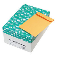 Quality Park 40865 #63 6 1/2 inch x 9 1/2 inch Brown Kraft Gummed Seal File Envelope - 500/Box