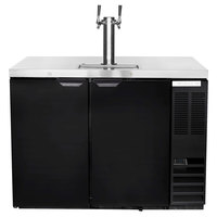 Beverage-Air DD48HC-1-B Double Tap Kegerator Beer Dispenser - Black, (2) 1/2 Keg Capacity