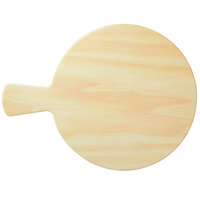 GET SB-1100-BW Madison Avenue / Granville 11 inch Round Faux Birch Wood Melamine Display Board with Foot and Handle