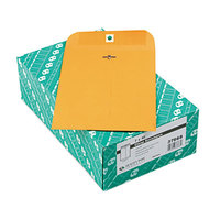 Quality Park 37868 #68 7 inch x 10 inch Brown Kraft Clasp / Gummed Seal File Envelope - 100/Box