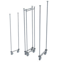 Metro LTTM18C Super Erecta Double-Deep Top-Track 18 inch Chrome-Plated Mobile Shelving Unit