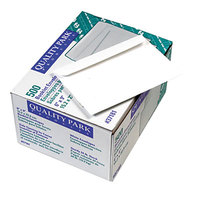 Quality Park 37181 #55 6 inch x 9 inch White Gummed Seal Open Side File Envelope - 500/Box