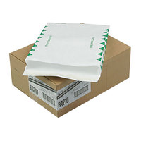 Survivor R4210 Tyvek® #97 10 inch x 13 inch x 1 1/2 inch White U.S. Postal Service First Class Expansion Mailer with Flap-Stick Self Adhesive Seal - 100/Case