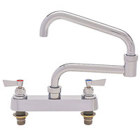 Fisher 45047 Deck Mounted Faucet with 8 inch Centers, 20 inch Double-Jointed Swing Nozzle, 37 GPM Flow, and Lever Handles