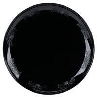 WNA Comet DWP6180BK 6 inch Black Plastic Designerware Plate   - 18/Pack
