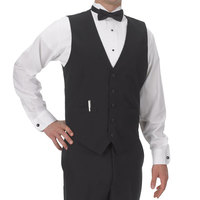 Men's Large Black Full Cloth Back Server Vest