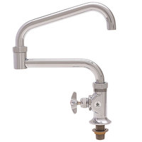 Fisher 45160 Deck Mounted Faucet with 17 inch Double-Jointed Swing Nozzle, 29 GPM Flow, and Cross Handle