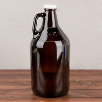 Libbey 70217 64 oz. Customizable Amber Growler   - 6/Case