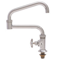Fisher 45179 Deck Mounted Faucet with 20 inch Double-Jointed Swing Nozzle, 37 GPM Flow, and Cross Handle