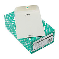 Quality Park 38563 #63 6 1/2 inch x 9 1/2 inch Executive Gray Kraft Clasp / Gummed Seal File Envelope - 100/Box