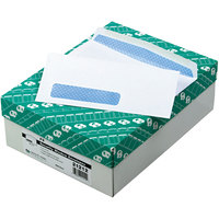 Quality Park 21212 #9 3 7/8 inch x 8 7/8 inch White Gummed Seal Security Tinted Business Envelope with Window - 500/Box