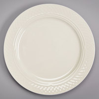 Homer Laughlin HL3427000 Gothic 12 1/2 inch Ivory (American White) China Plate - 12/Case