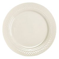 Homer Laughlin 3427000 Gothic 12 1/2 inch Ivory (American White) China Plate - 12/Case