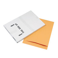 Quality Park 42356 Jumbo Size 17 inch x 22 inch Brown Kraft Fold Flap Seal File Envelope - 25/Pack