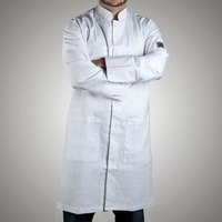 Chef Revival J034-M Knife and Steel Size 42 (M) Customizable Knee Length Tech Coat - Poly-Cotton Blend