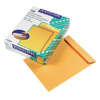 Quality Park 41667 #97 10 inch x 13 inch Brown Kraft Gummed Seal File Envelope - 100/Box