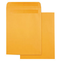 Quality Park 43563 #90 9 inch x 12 inch Brown Kraft High Bulk File Envelope with Redi-Seal - 100/Box