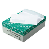 Quality Park 21330 Park Ridge #10 4 1/8 inch x 9 1/2 inch White Gummed Seal Embossed Business Envelope with Window - 500/Box