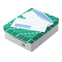 Quality Park 21412 #10 4 1/8 inch x 9 1/2 inch White Gummed Seal Security Tinted Business Envelope with Address Window - 500/Box