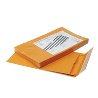 Quality Park 93338 #98 10 inch x 15 inch x 2 inch Brown Kraft Expansion Envelope with Redi-Strip Seal - 25/Pack