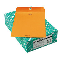 Quality Park 37790 #90 9 inch x 12 inch Brown Kraft Clasp / Gummed Seal File Envelope - 100/Box