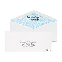 Columbian CO128 #10 4 1/8 inch x 9 1/2 inch White Gummed Seal Security Tinted Business Envelope - 500/Box