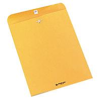 Quality Park 37597 #97 10 inch x 13 inch Brown Kraft Clasp / Gummed Seal File Envelope - 250/Case