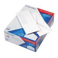 Columbian CO160 Poly-Klear #9 3 7/8 inch x 8 7/8 inch White Gummed Seal Business Envelope with Single Window - 500/Box