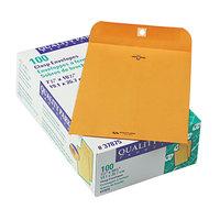 Quality Park 37875 #75 7 1/2 inch x 10 1/2 inch Brown Kraft Clasp / Gummed Seal File Envelope - 100/Box