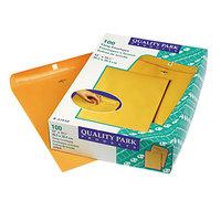 Quality Park 37910 #110 12 inch x 15 1/2 inch Brown Kraft Clasp / Gummed Seal File Envelope - 100/Box