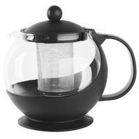 Choice 42 oz. Tempered Glass Tea Pot Infuser with Stainless Steel Basket
