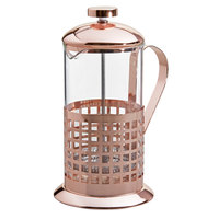 Choice 20 oz. Glass / Copper French Coffee Press