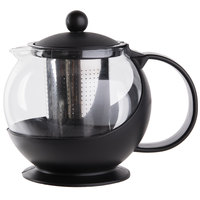 Choice 25 oz. Tempered Glass Tea Pot Infuser with Stainless Steel Basket