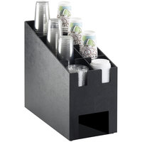 Cal-Mil 2045 Classic Cup / Lid Organizer with Hot Cup Sleeve Dispenser Slot - 9 1/4 inch x 19 1/4 inch x 16 3/4 inch