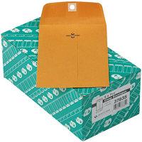 Quality Park 37835 #35 5 inch x 7 1/2 inch Brown Kraft Clasp / Gummed Seal File Envelope - 100/Box